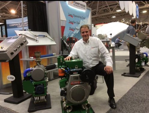 PDI's CEO Lou by the PowerHouse™ APU at Railway Interchange 2015
