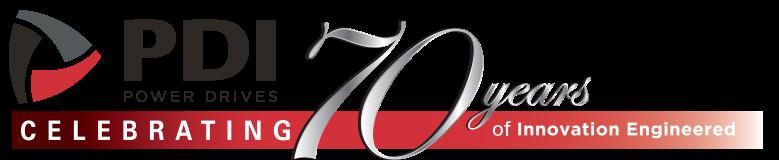 PDI's 70 year logo