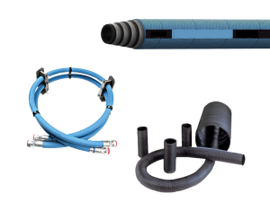 Collage of PDI fuel hose, oil hose and vent hose