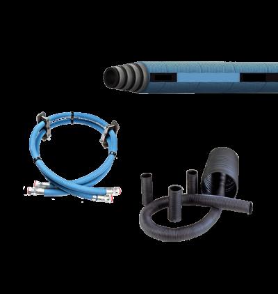 Collage of PDI fuel hose, oil hose and vent hose