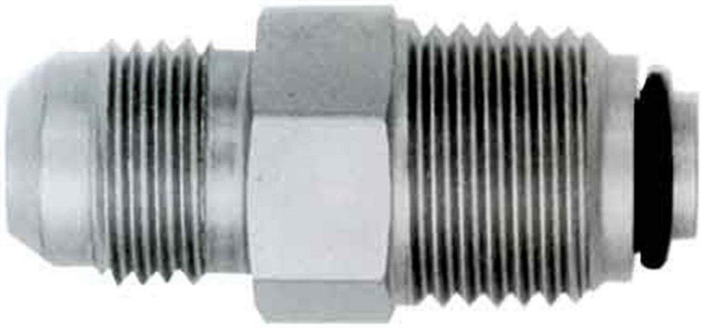 Straight steel hydraulic conversion fitting