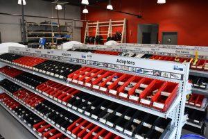 PDI's Buffalo Express Hose Center adapter shelving